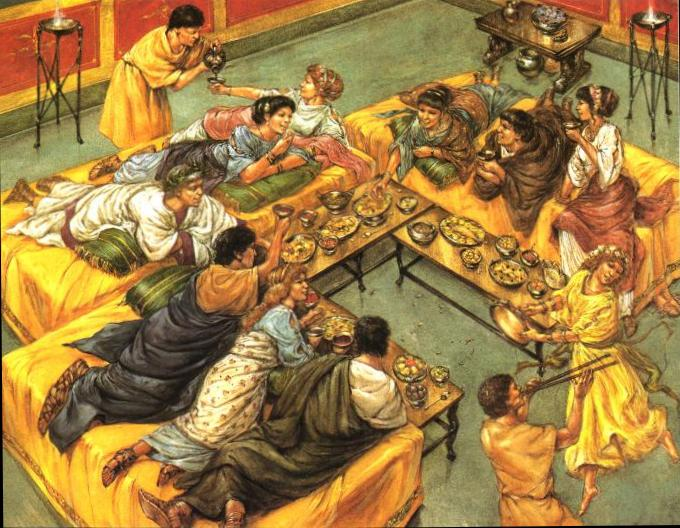 Food feasts in ancient rome for Ancient israelite cuisine