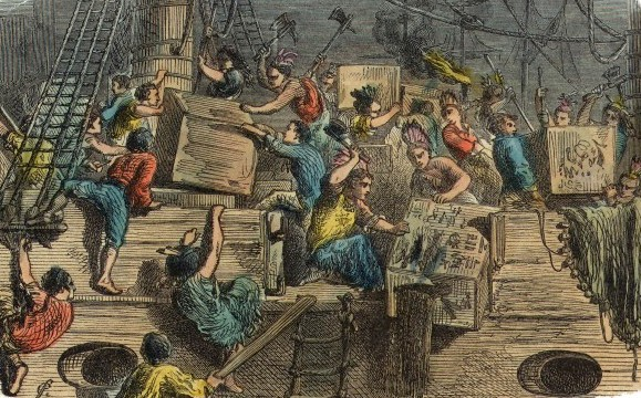 a history of the boston tea party on the 16th of december 1773 Every year on december 16 we celebrate our freedom and the reenactment of the boston tea party march from the old south meeting house to griffins wharf.