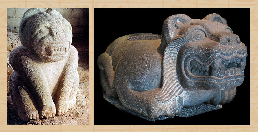The Olmec jaguar sculpture