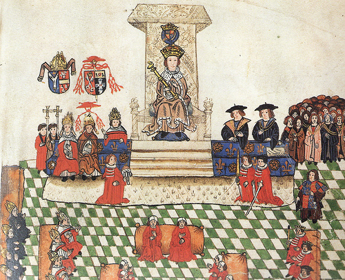 Opening ceremony of Parliament in 1523