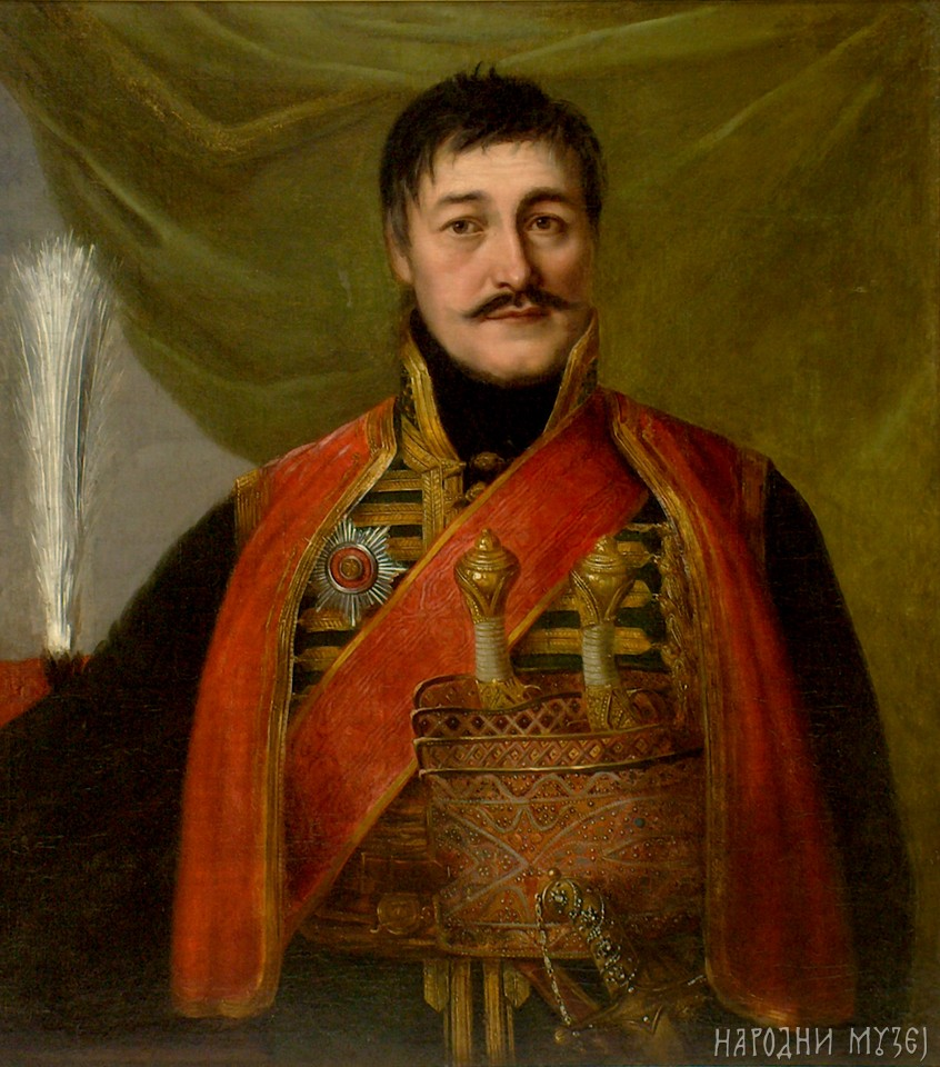 Portrait of Karađorđe by Uroš Knežević, 18th century (National Museum, Belgrade)