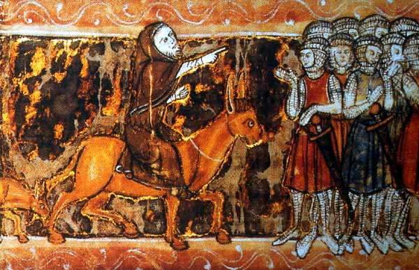 Peter the Hermit riding the donkey