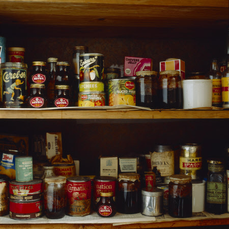 The store cupboard on the second floor landing