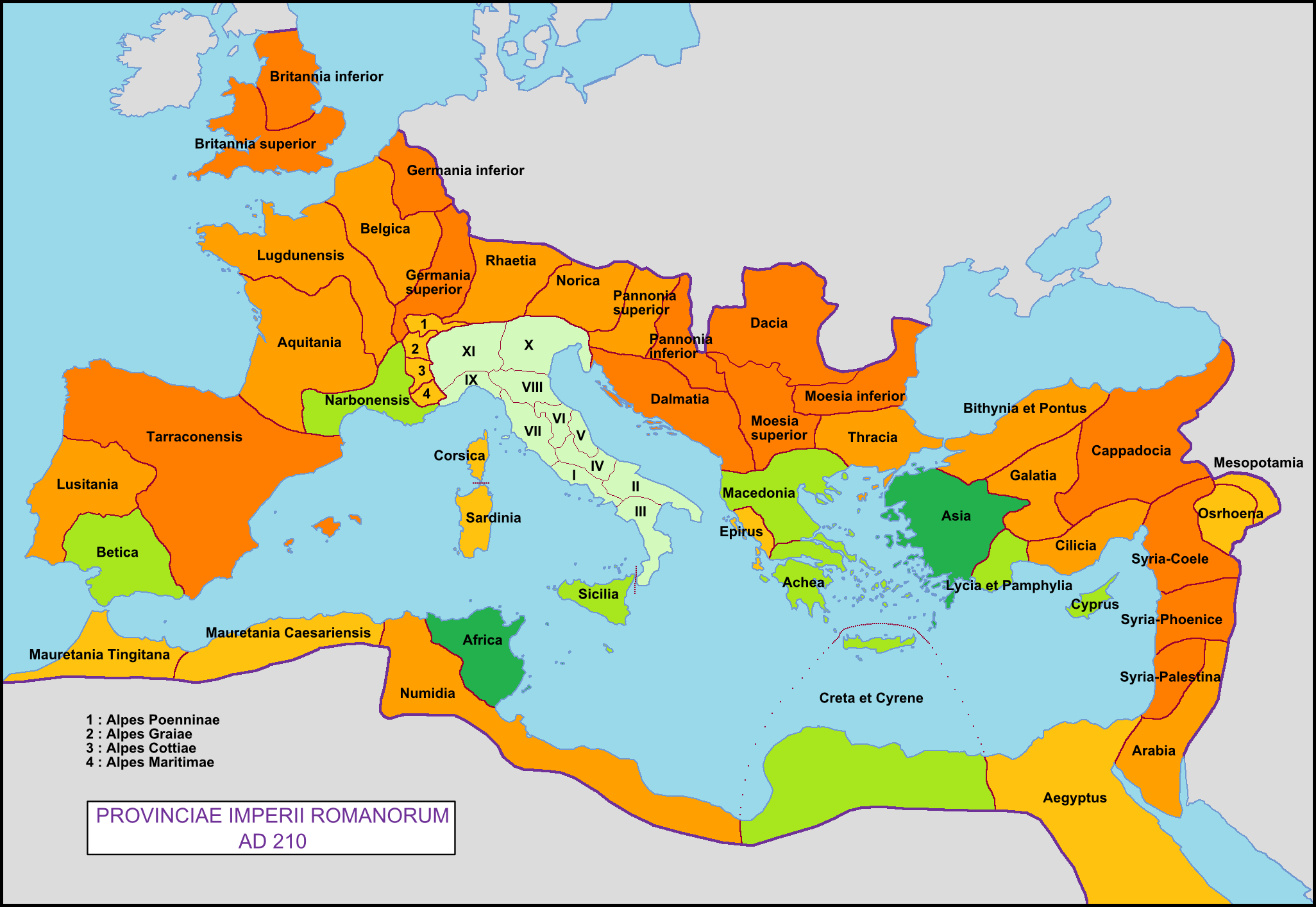 The map of Roman provinces