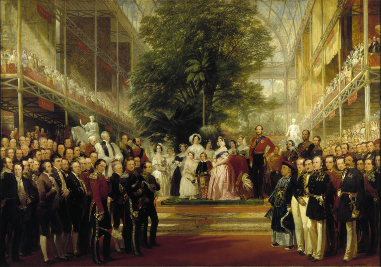 Queen Victoria and her family at the opening of the Great Exhibition in 1851