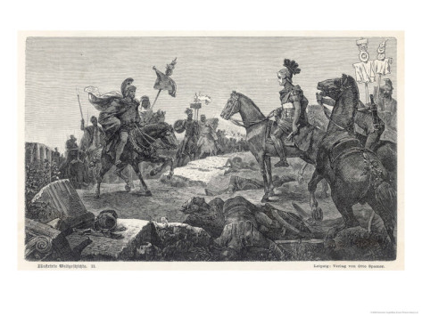 Second Punic War Scipio Africanus Meets Hannibal Before Defeating Him at Zama in North Africa