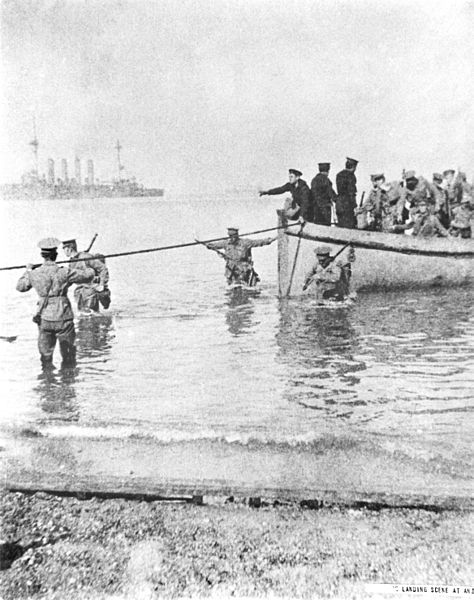 Gallipoli, Anzac Beach, 25 April 1915.