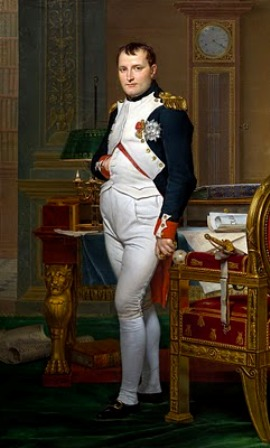 Napoleon Bonaparte in his study