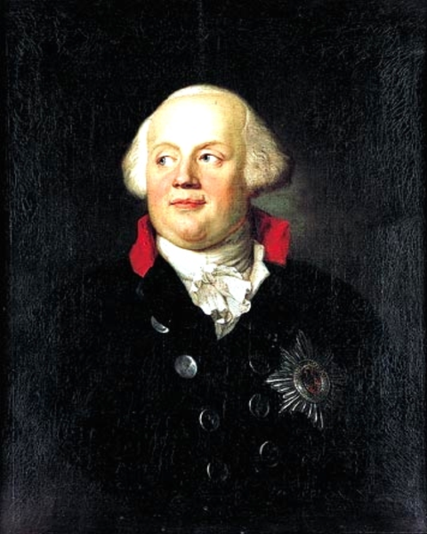 Frederick William II of Prussia, painting by Anton Graff