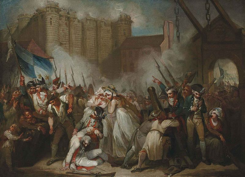 """The Storming of the Bastille"", by Henry Singleton"