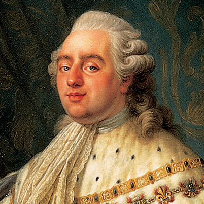 King Louis XVI of France, detail of painting by Antoine-Francois Callet, 1788