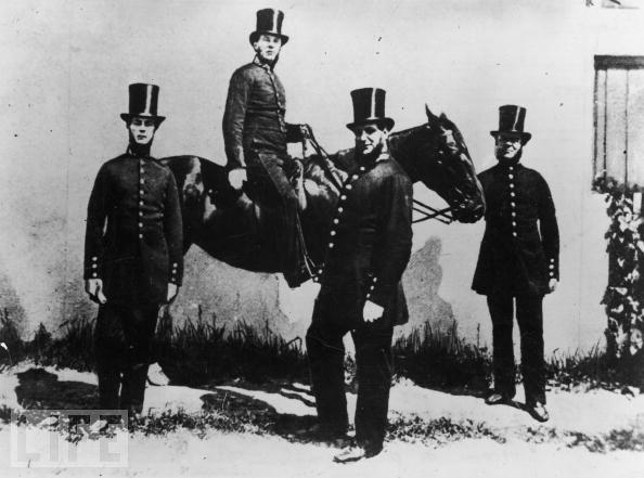 Victorian bobbies with horse