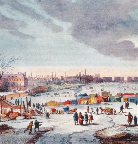 """Thames frost fair"" by Thomas Wyke"