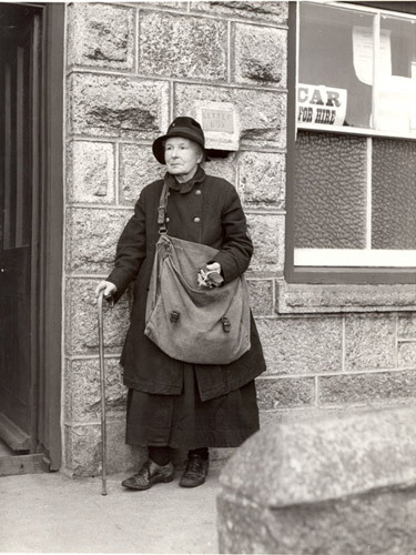 Mrs P. L. Matthews, Cornwall's oldest postwoman, 1935.