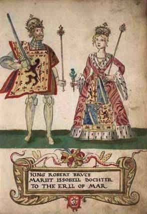 Robert I the Bruce and his wife, Isabella of Mar
