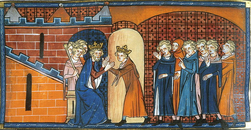 Arthur I of Brittany doing homage to Philip II August of France