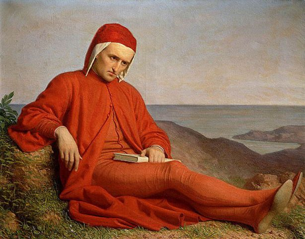 Dante in Exile, by unknown artist