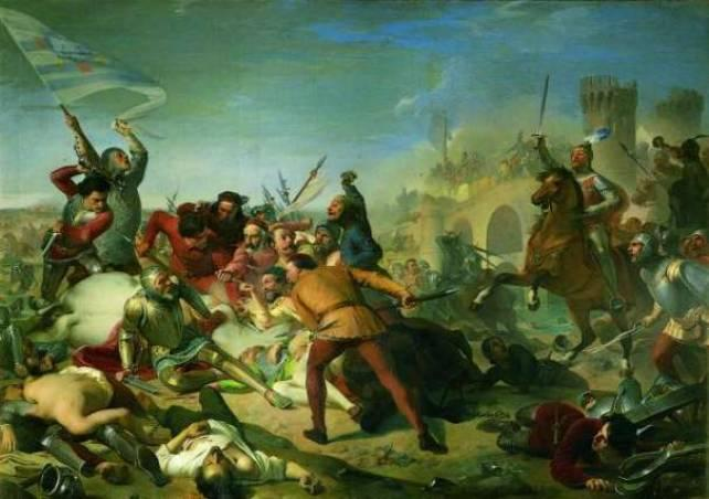 The Defeat of Ezzelino Romano, by Adeodato Malatesta, 1856