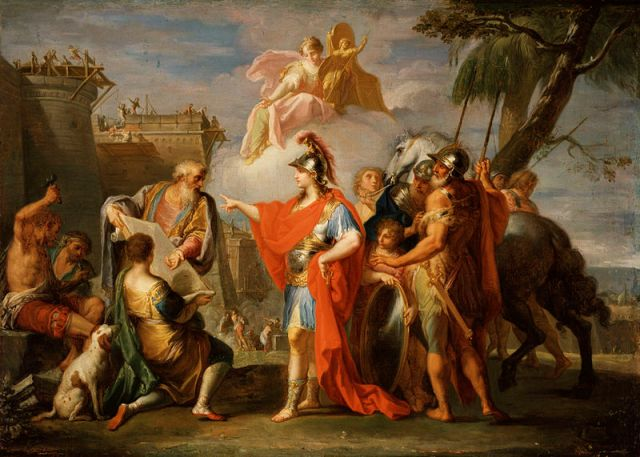 Alexander the Great Founding Alexandria by Placido Constanzi, 1736 -37
