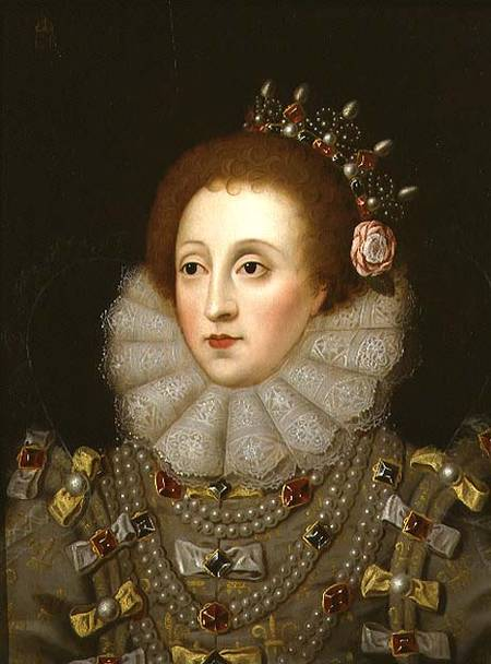 Portrait of Queen Elizabeth I (1533-1603) (panel) by Hilliard, Nicholas (1547-1619) (manner of) oil on panel