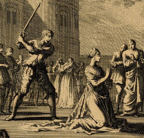 Anne Boleyns execution by Jan Luyken, c.1664-1712