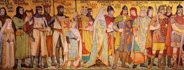 Important figures in Scottish history (detail), frieze created by the artist William Hole in 1898