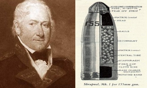 Henry Shrapnel and the 'Shrapnel shell'