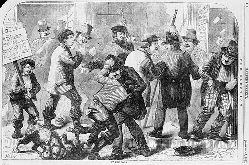 Election Scene 1860,  from Harper's Weekly