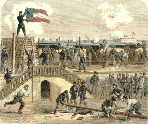 Firing on Fort Sumter April 12, 1861