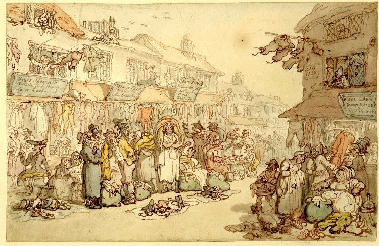 Ragfair, Rosemary Lane by Thomas Rowlandson, late eighteenth century