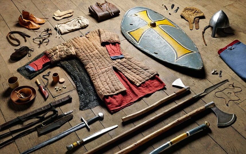 Anglo-Saxon warrior equipment Photo by Thom Atkinson