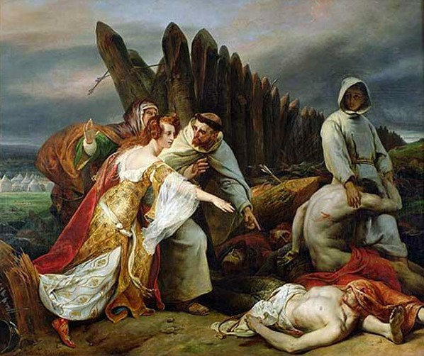 Edith Swan-Neck discovering King Harold's corpse on the battle field of Hastings by Horace Vernet