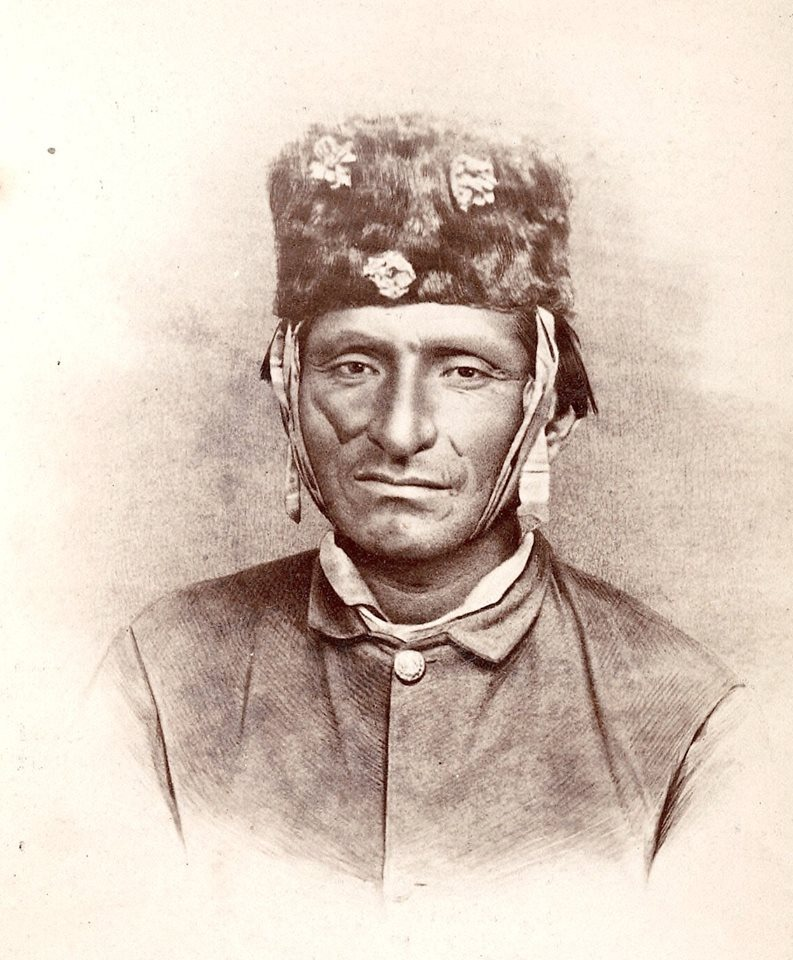 Chief Scarface Charley. Modoc. 1873. Photo by Louis Herman Heller. Source - Yale Collection of Western Americana, Beinecke Rare Book and Manuscript Library