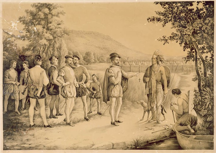 Jacques Cartier meets Indians