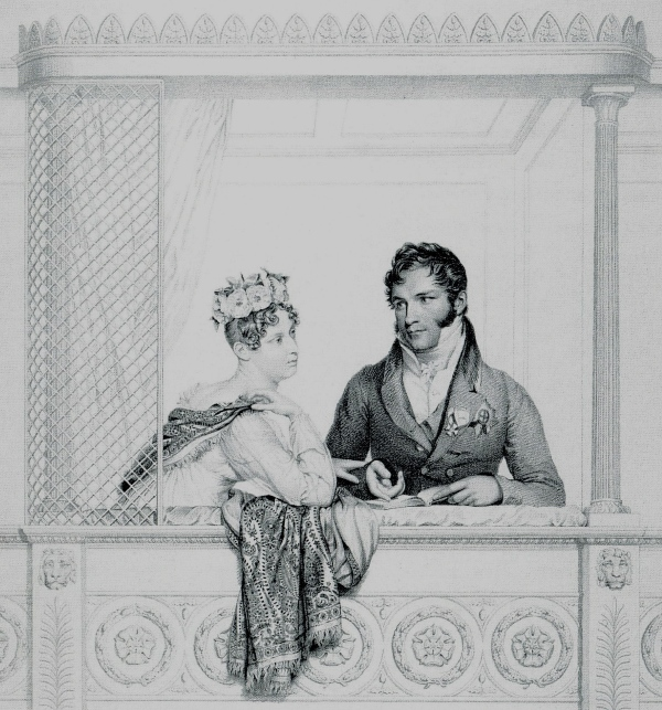 Prince Leopold of Saxe-Coburg and Charlotte, his wife