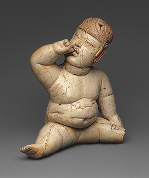 The Olmec baby figurine