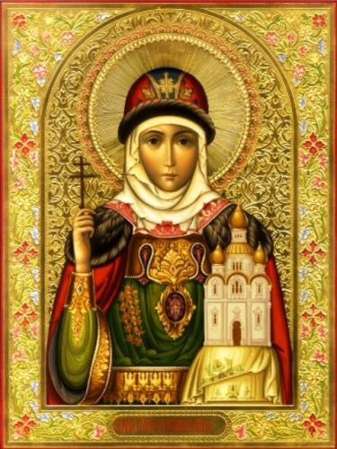 Saint Olga, also called Olga the Beauty, was the first ruler to convert to Christianity