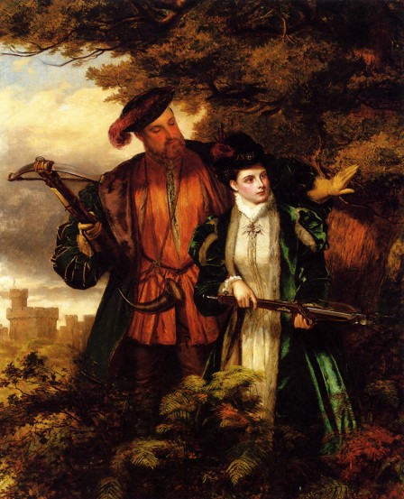 Anne and Henry VIII hunting