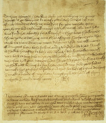 Henry's letter to Anne