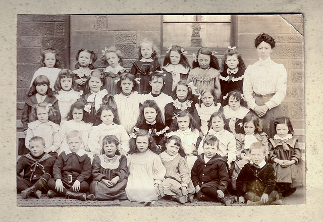 A schoolclass in Glasgow, c.1890