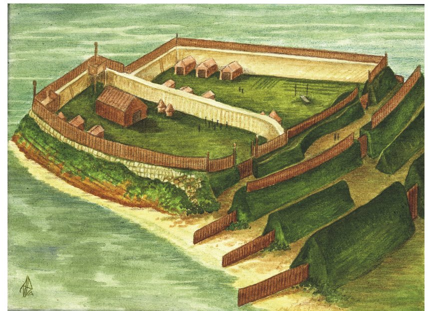 Pictish fort at Burghead