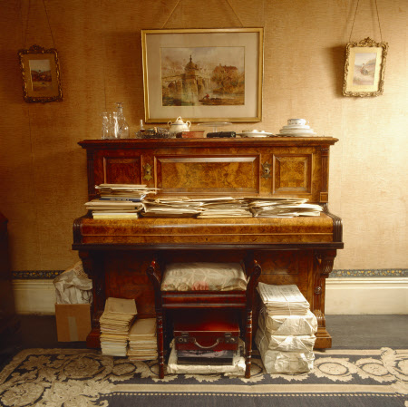 View of the piano in the sitting room