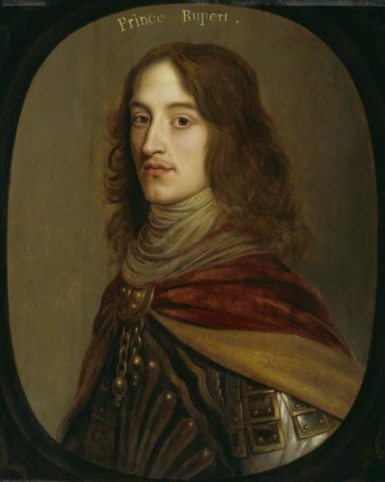 Rupert, Count Palatine of the Rhine, Duke of Bavaria, 1st Duke of Cumberland, 1st Earl of Holderness , commonly called Prince Rupert of the Rhine, (1619 – 1682)