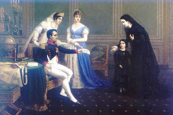 Napoleon meets Josephine and her daughter Hortense, 1795