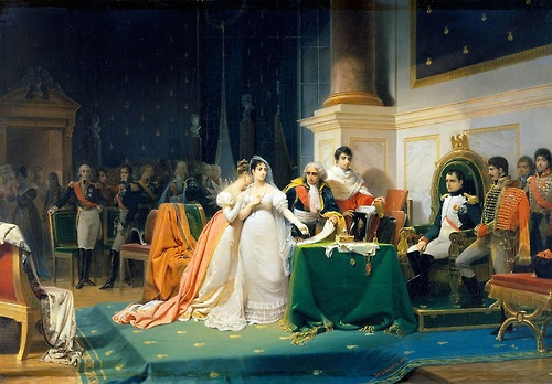 The divorce of Josephine and Bonaparte in 1846 painting by henri-Frederic Schopin