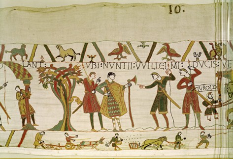 The scene with Turold, Bayeux Tapestry