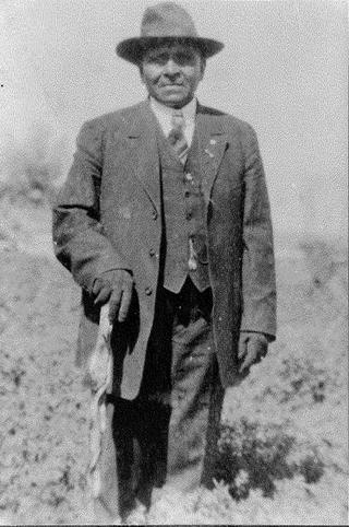 Frank Warner, also known as Beshup Timbimboo, survived the Bear River Massacre despite receiving seven bullet wounds.