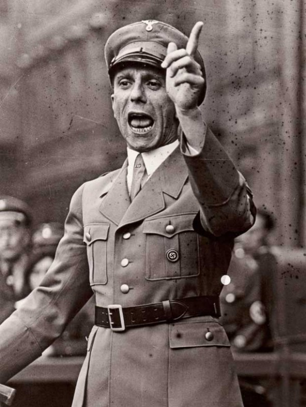 Josef Goebbels speaking at rally