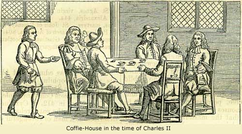 coffee-house in the time of King Charles II
