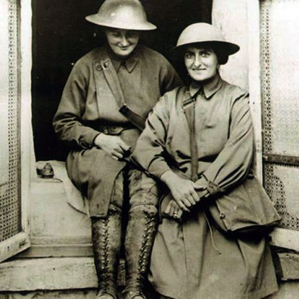 Two heroines of WWI dispatched to Belgium as ambulance drivers